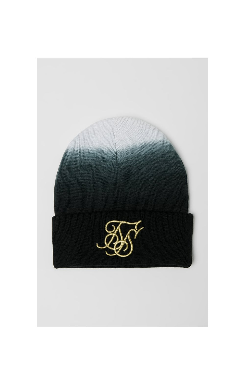 SikSilk Ombre Beanie - Back & White