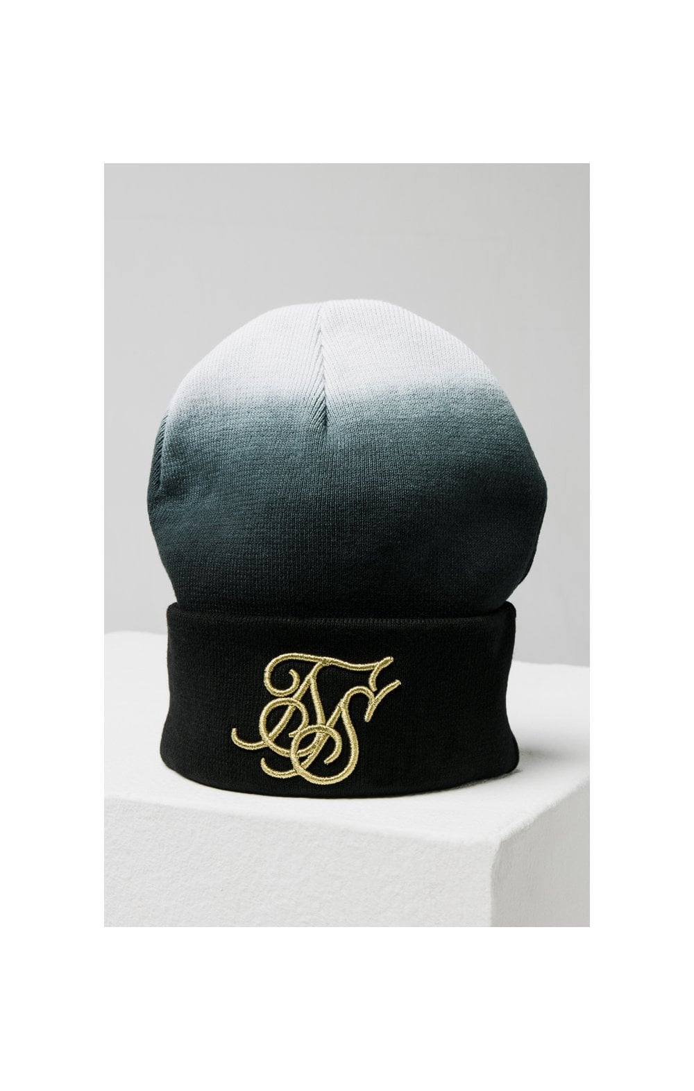 SikSilk Ombre Beanie - Back & White (2)