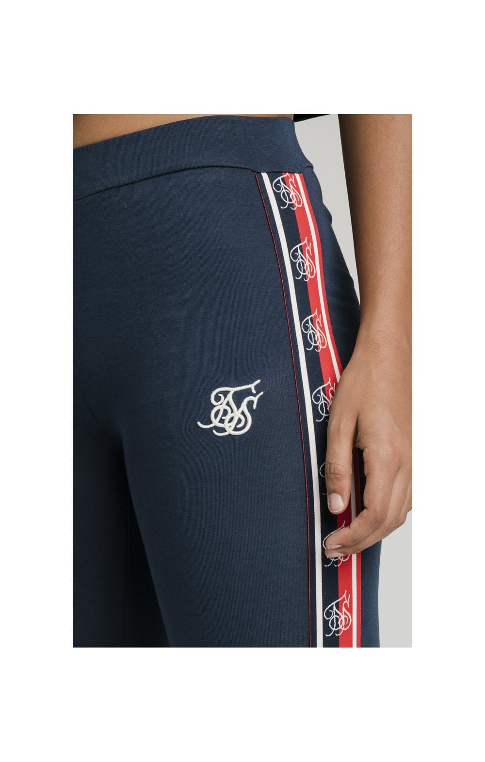 SikSilk Classic Tape Leggings - Navy (1)