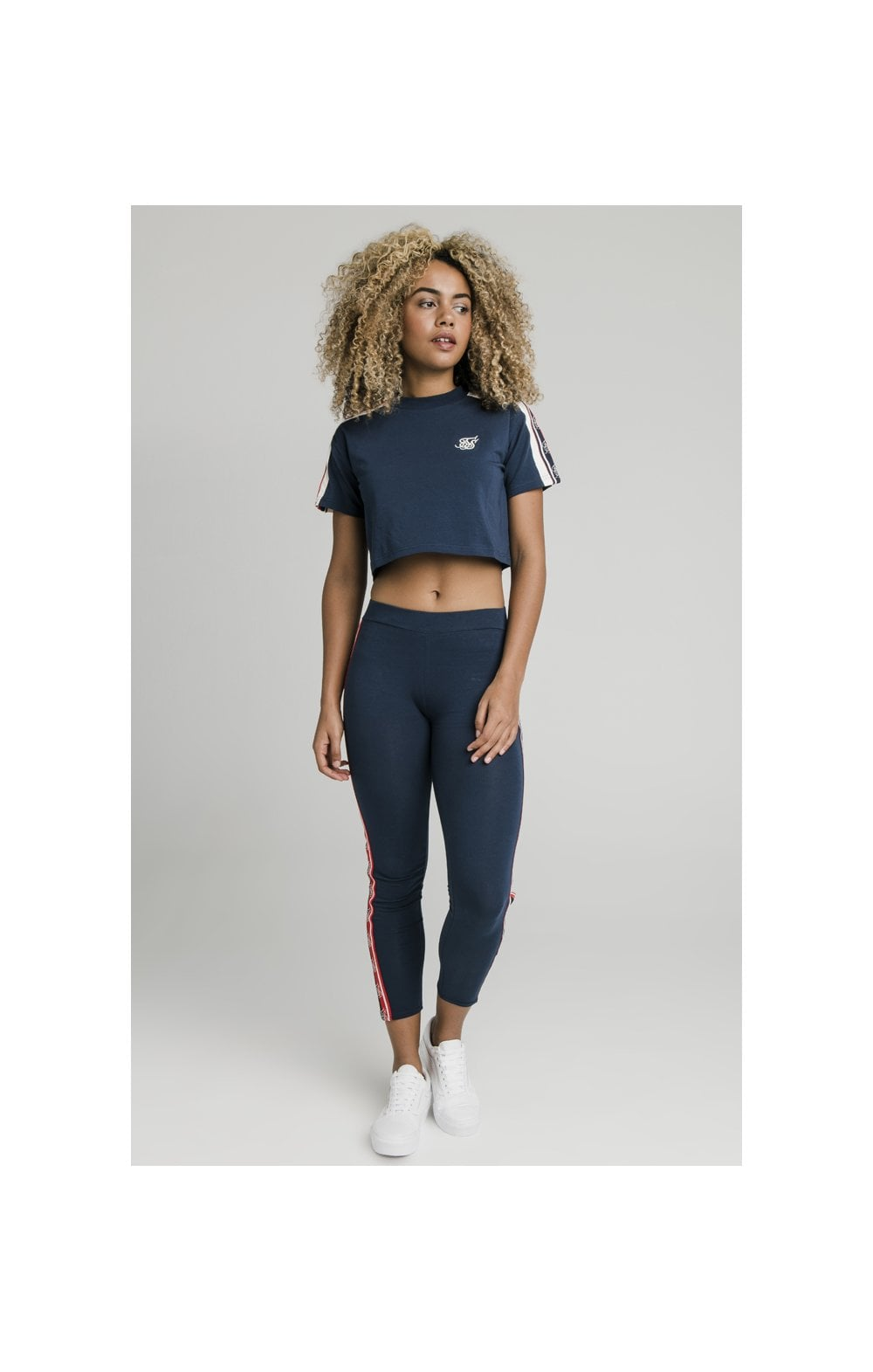 SikSilk Classic Tape Leggings - Navy (5)