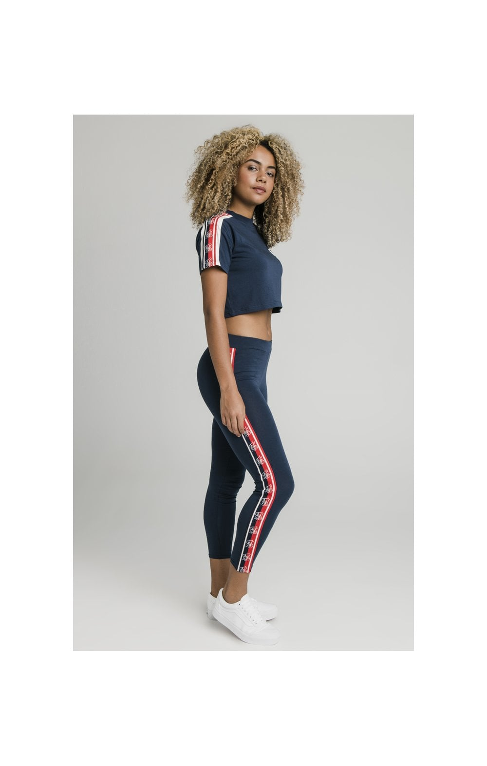SikSilk Classic Tape Leggings - Navy (7)