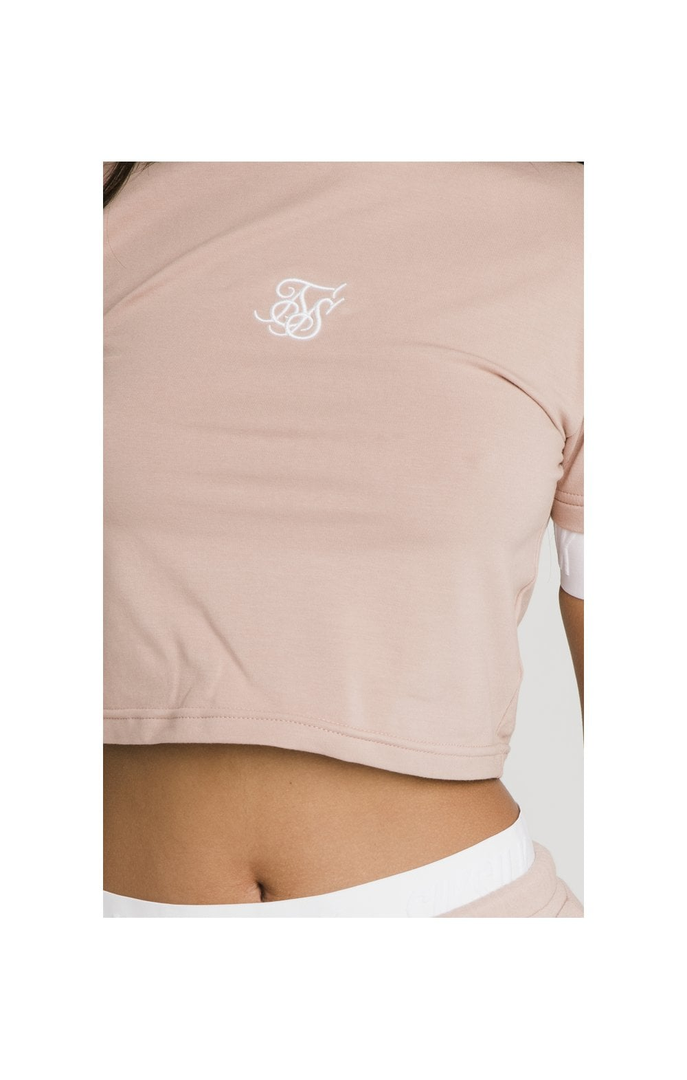 Load image into Gallery viewer, SikSilk Tape Cuff Crop Tee - Rose (1)