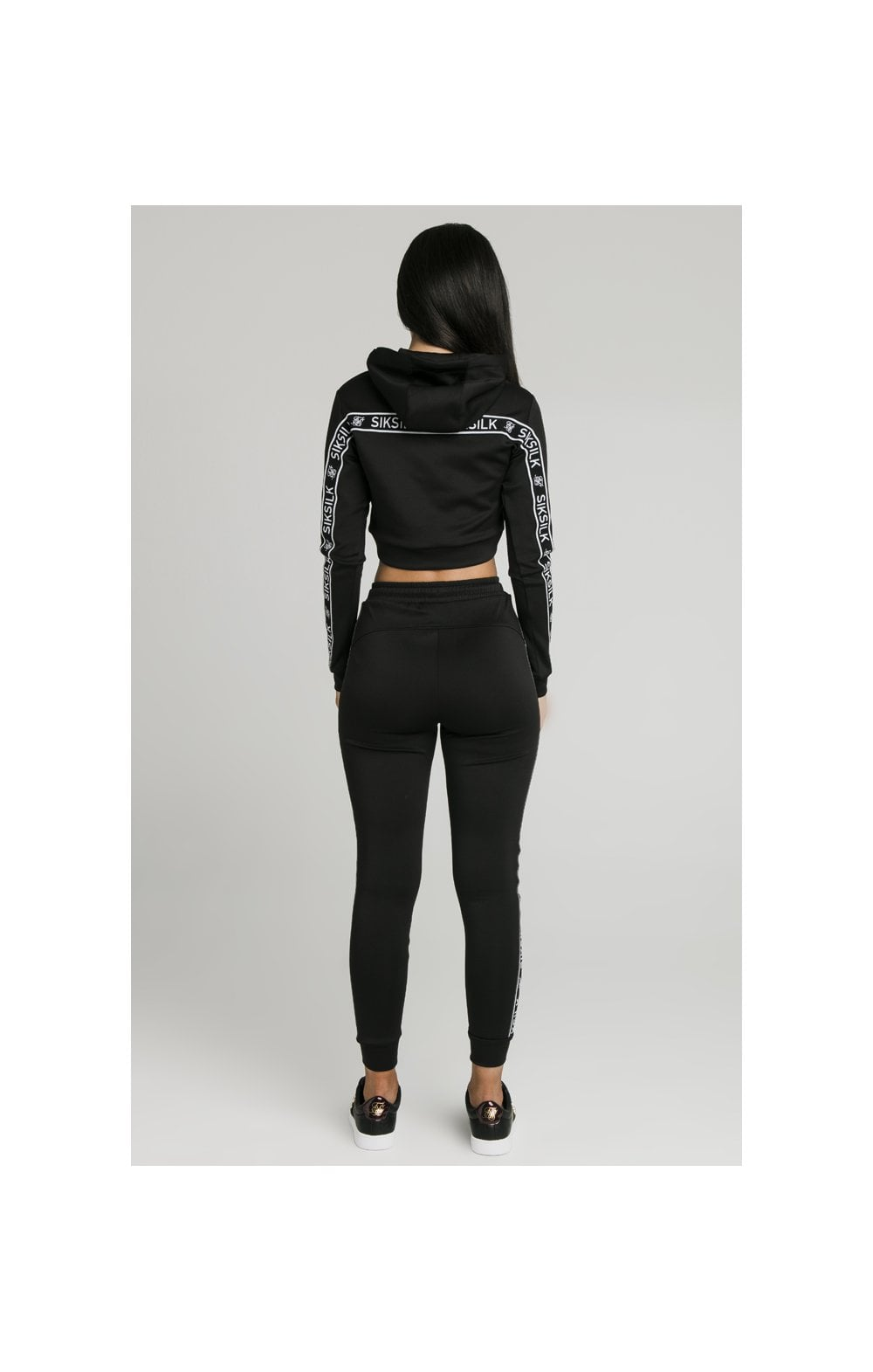 SikSilk Arc Tech Cropped Track Top - Black (6)