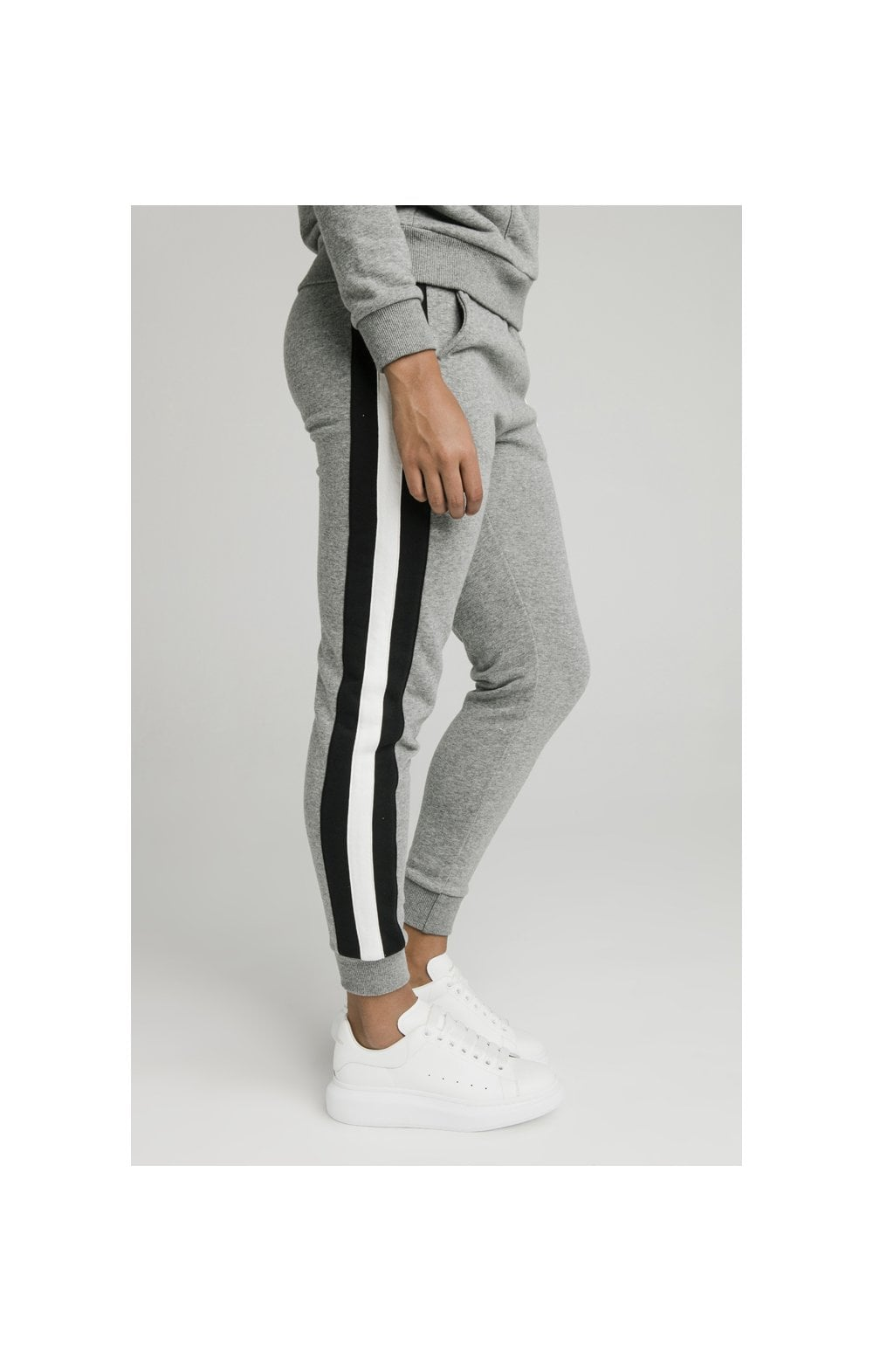 SikSilk Sports Luxe Track Pants - Grey Marl (2)