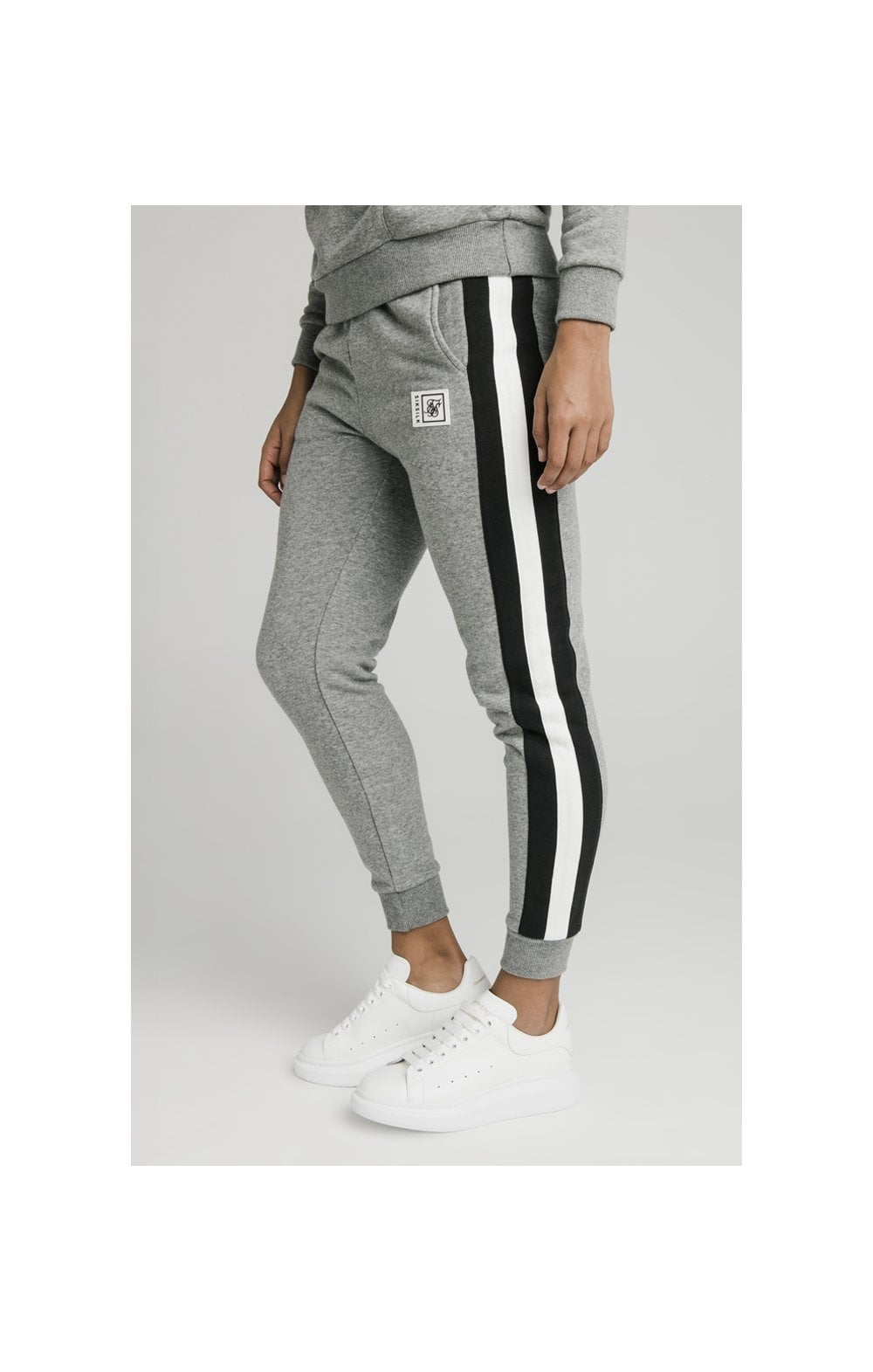SikSilk Sports Luxe Track Pants - Grey Marl (3)