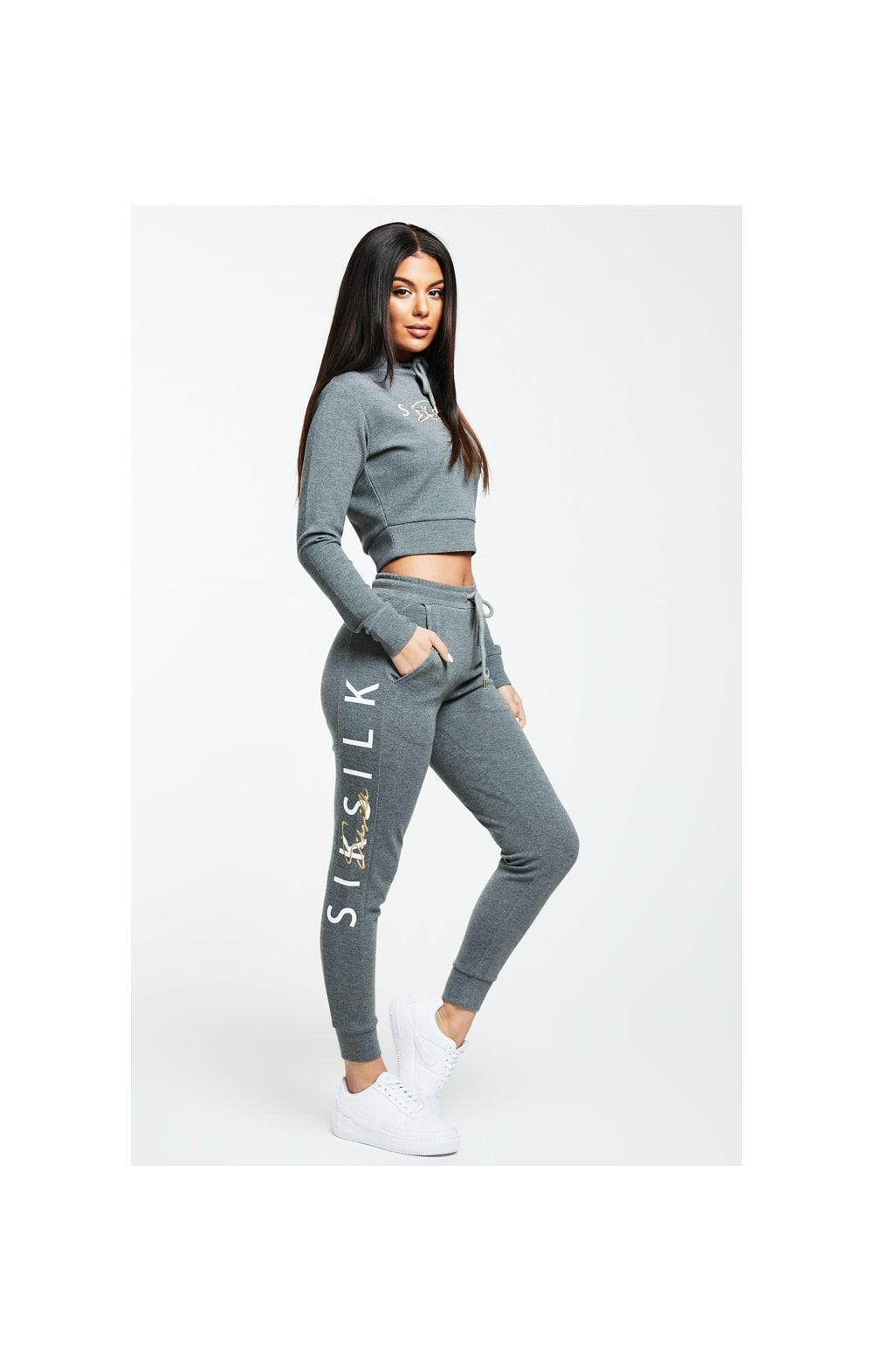Load image into Gallery viewer, SikSilk Colour Signature Track Top - Dark Grey Marl (2)