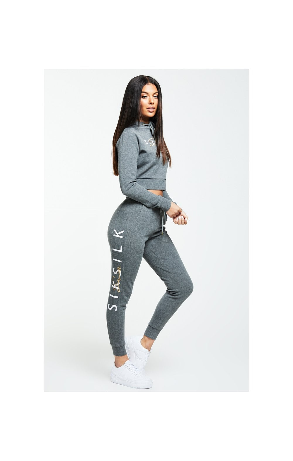 Load image into Gallery viewer, SikSilk Colour Signature Track Top - Dark Grey Marl (3)