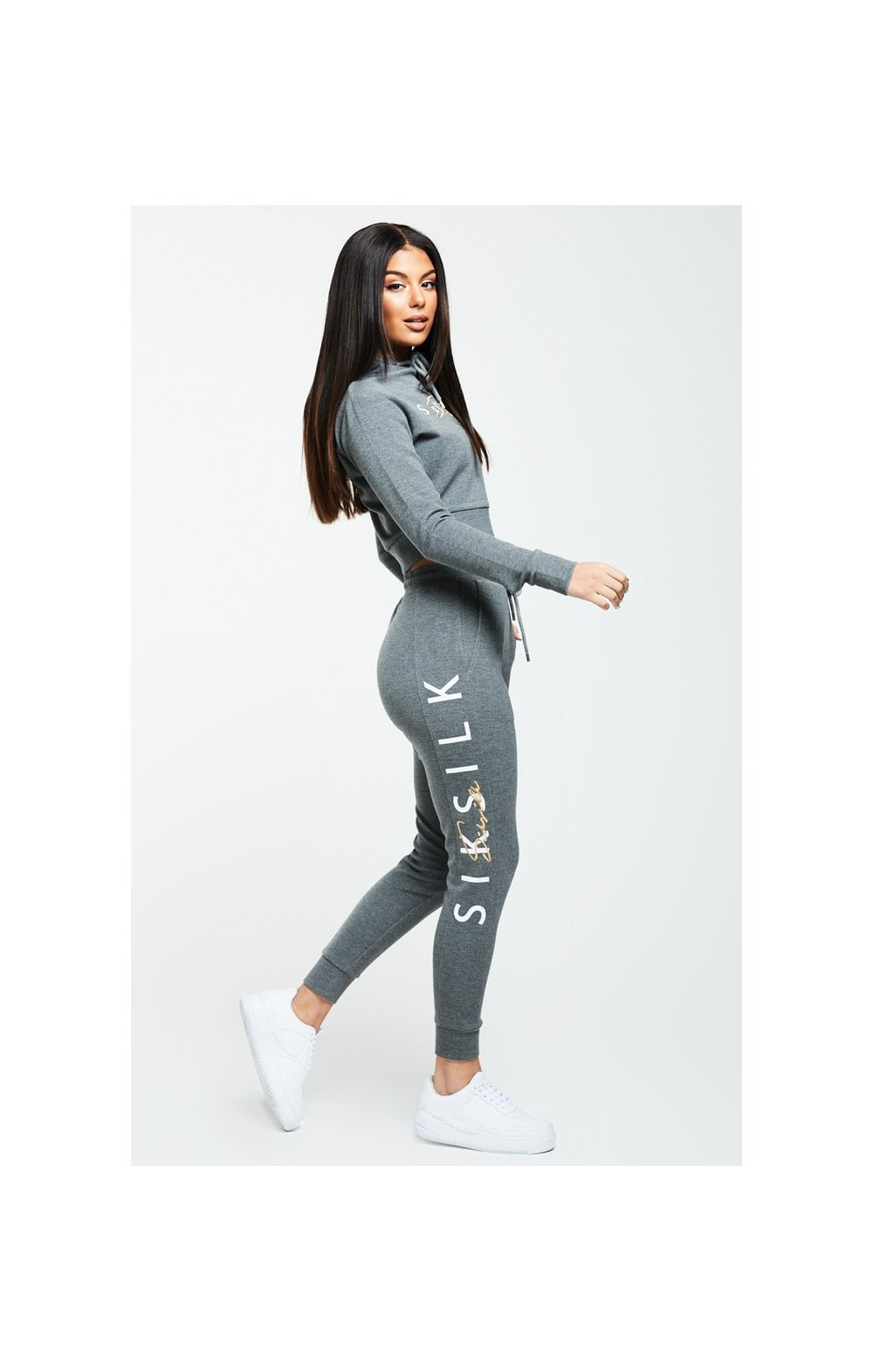 Load image into Gallery viewer, SikSilk Colour Signature Track Top - Dark Grey Marl (4)