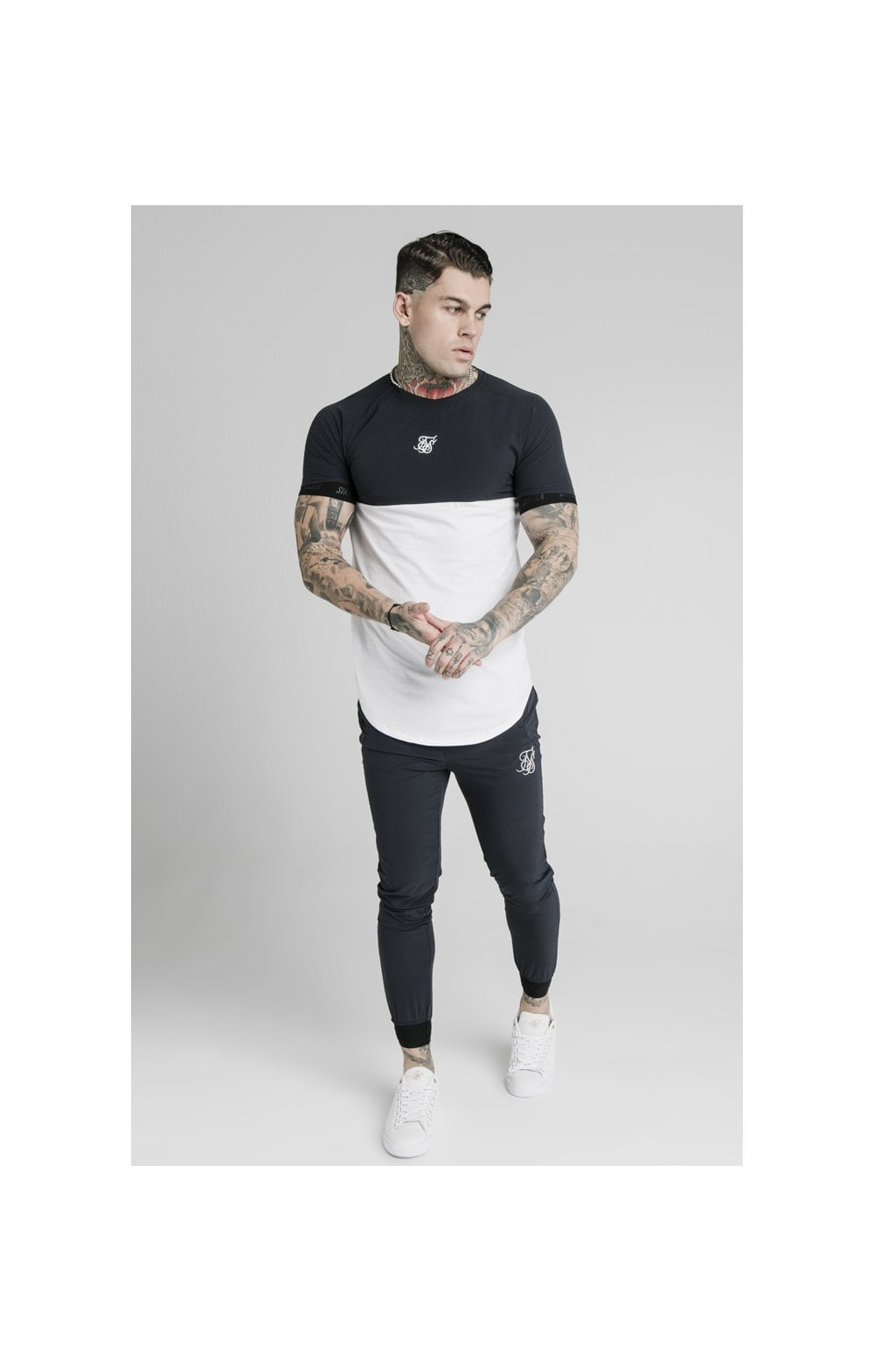 SikSilk Agility Poly Rib Track Pants - Midnight Navy (3)