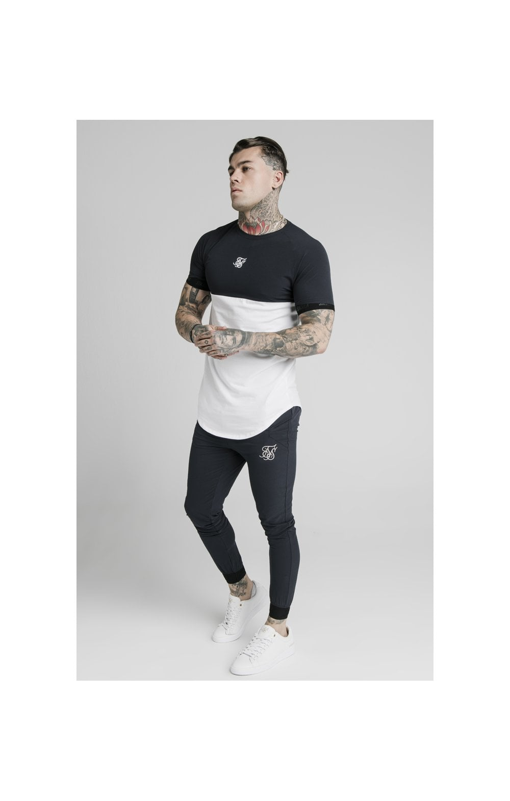 SikSilk Agility Poly Rib Track Pants - Midnight Navy (4)