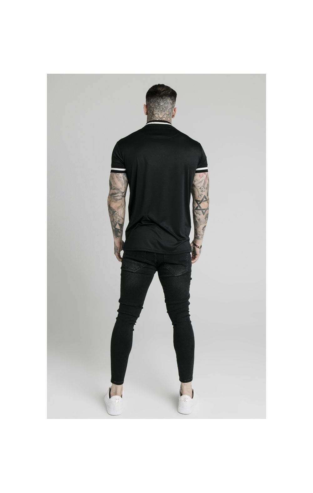 Load image into Gallery viewer, SikSilk S/S Poly Rib Collar Tee - Black (4)