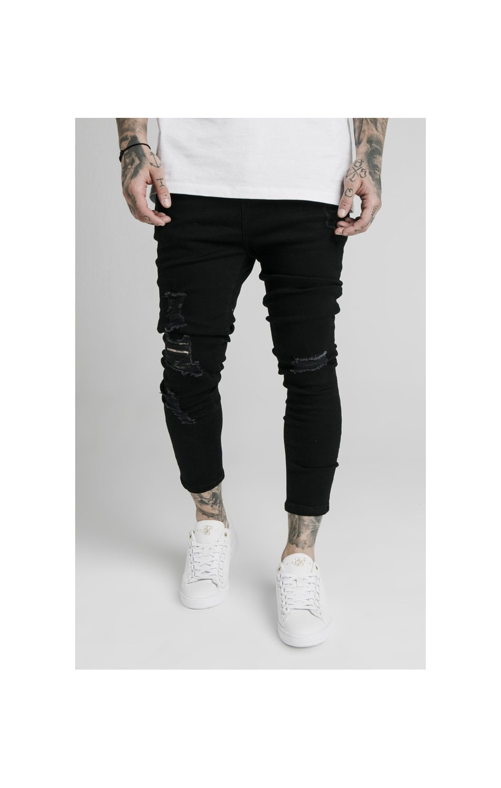 SikSilk Ultra Drop Crotch Denims - Black
