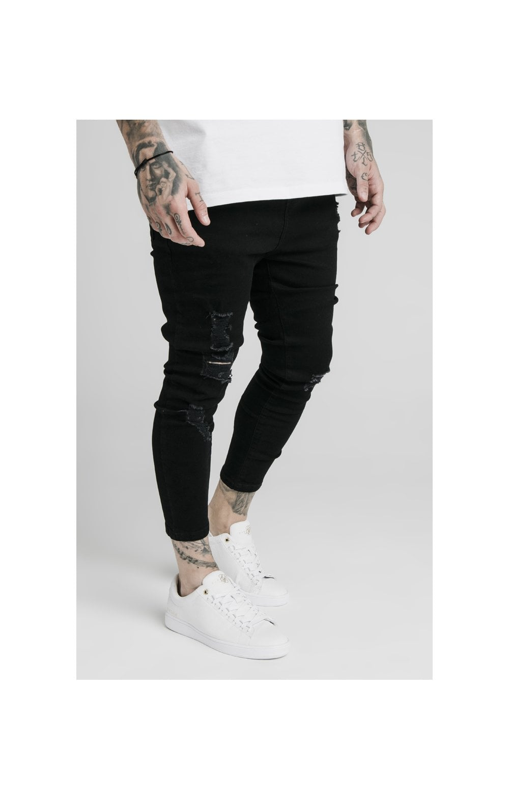 SikSilk Ultra Drop Crotch Denims - Black (2)