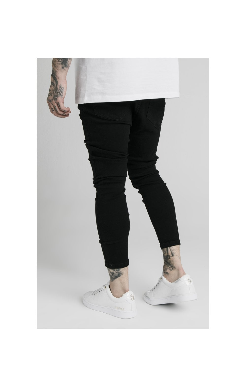 SikSilk Ultra Drop Crotch Denims - Black (4)