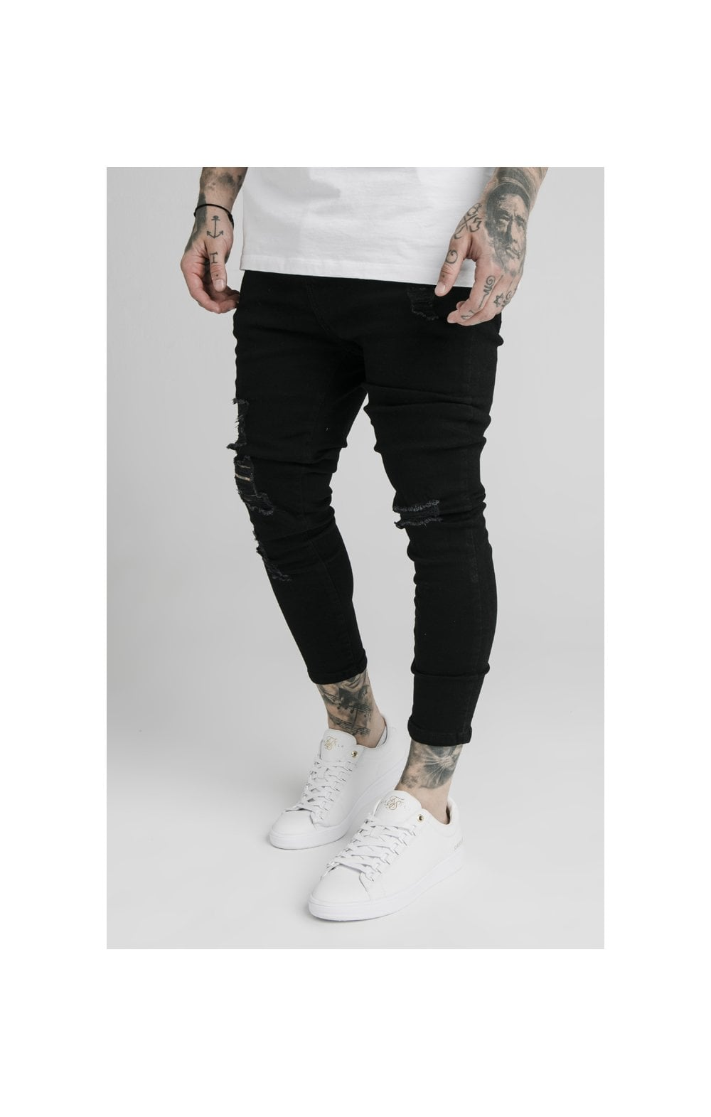 SikSilk Ultra Drop Crotch Denims - Black (3)