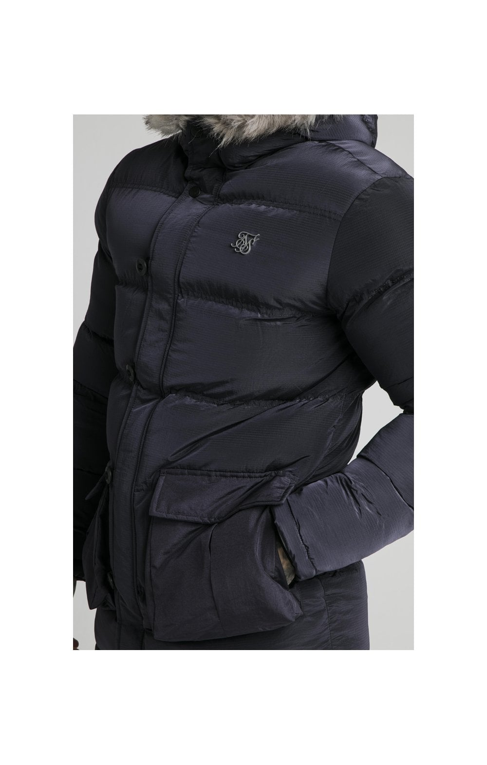 Load image into Gallery viewer, SikSilk Rip Stop Puff Parka - Navy (2)
