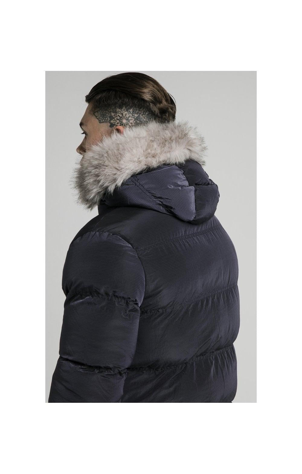 Load image into Gallery viewer, SikSilk Rip Stop Puff Parka - Navy (4)