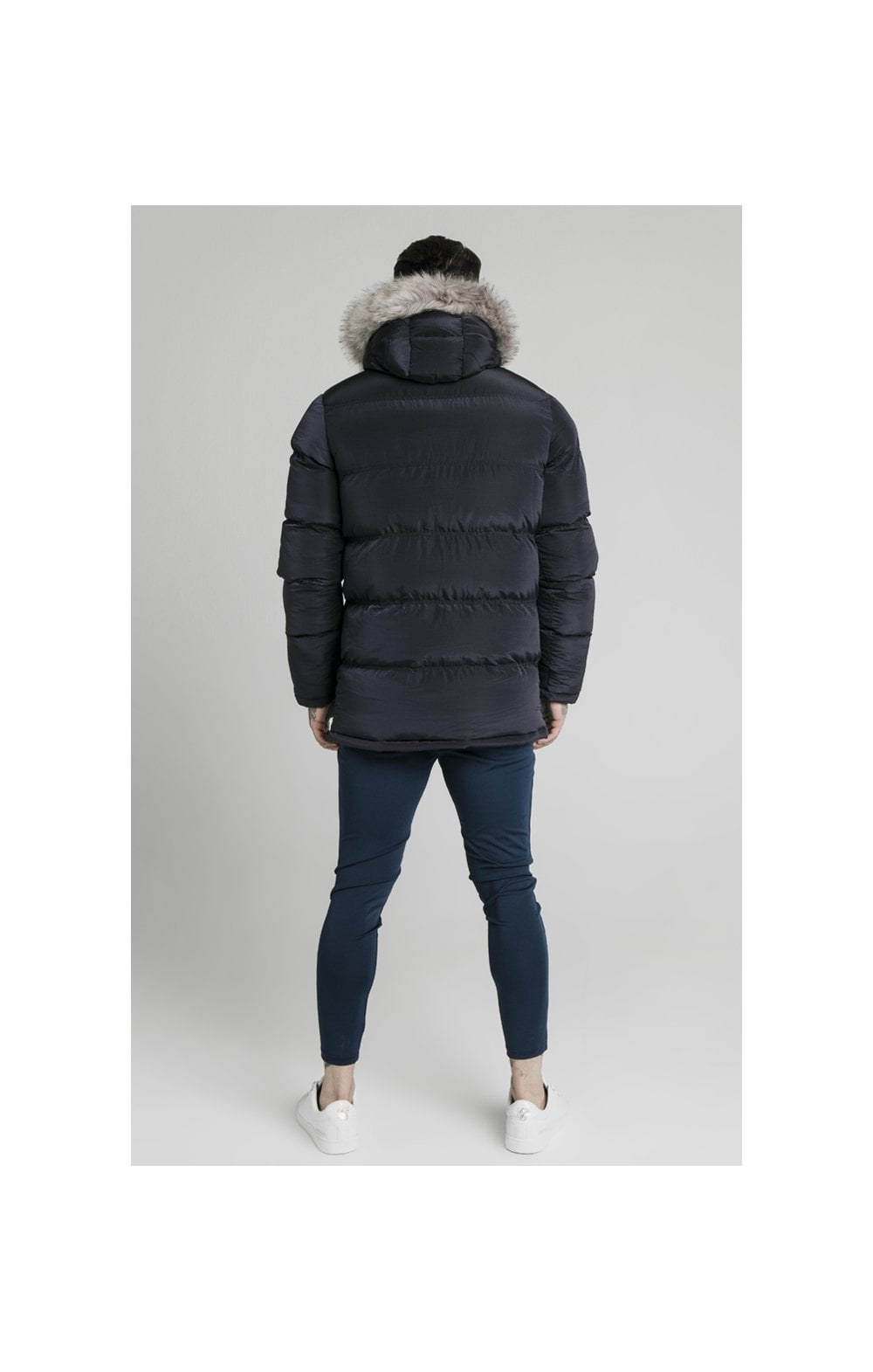 Load image into Gallery viewer, SikSilk Rip Stop Puff Parka - Navy (5)