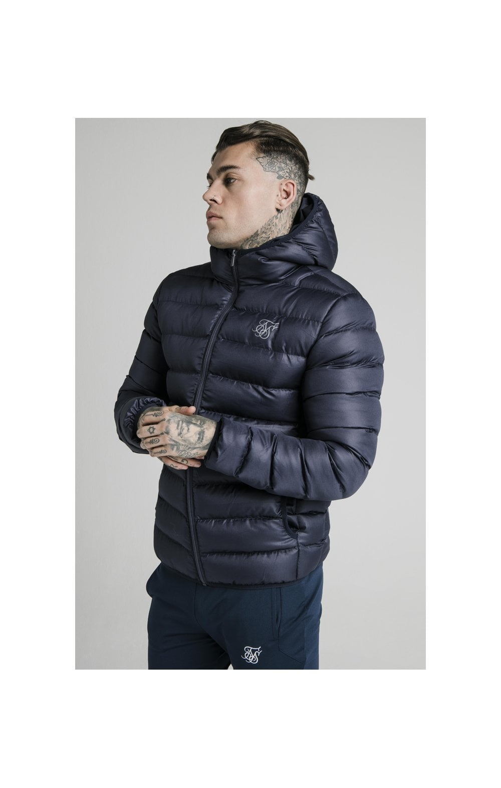 SikSilk Atmosphere Jacket - Navy