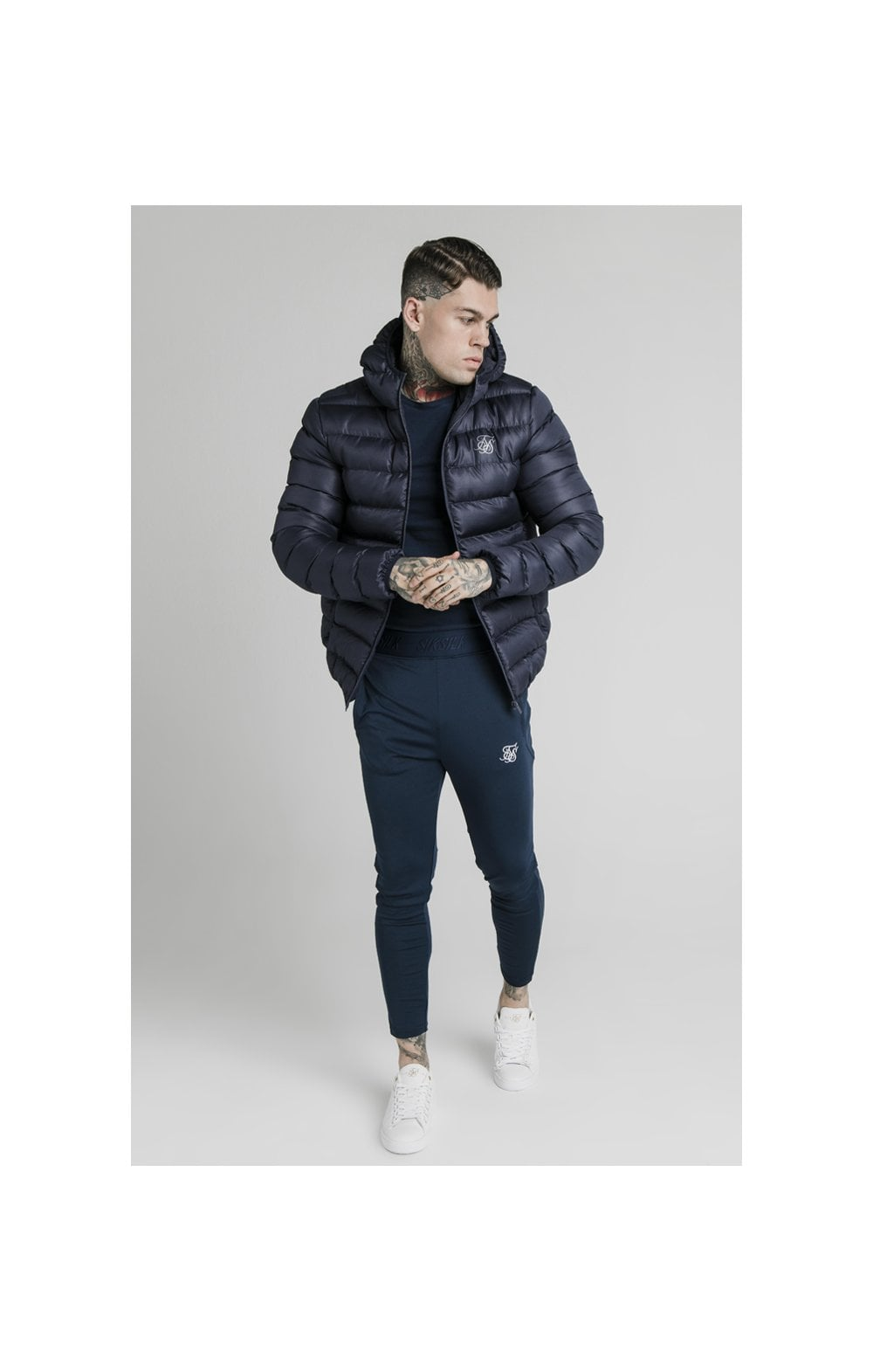 Load image into Gallery viewer, SikSilk Atmosphere Jacket - Navy (3)