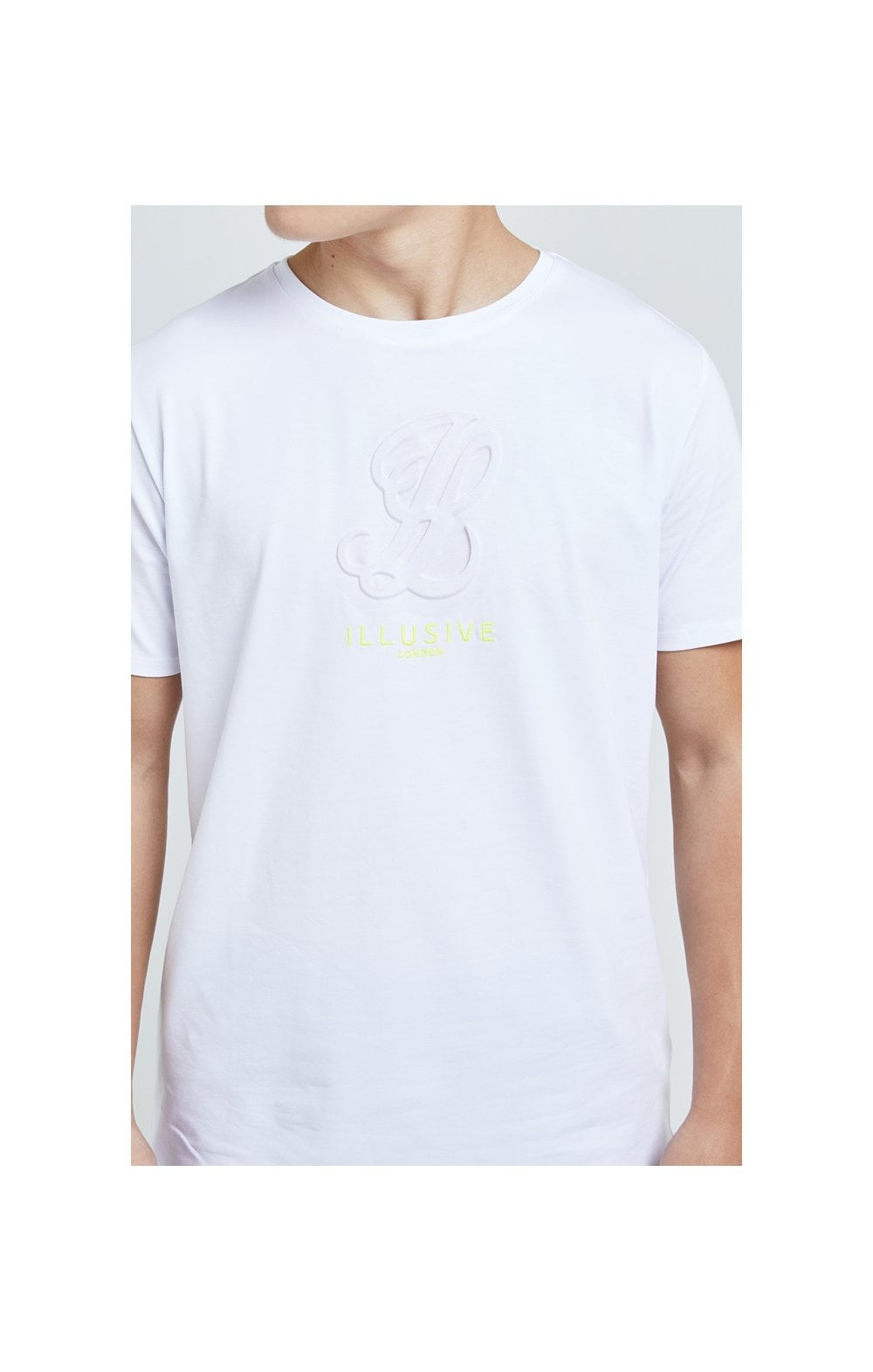Load image into Gallery viewer, Illusive London Embossed Logo Tee - White (1)