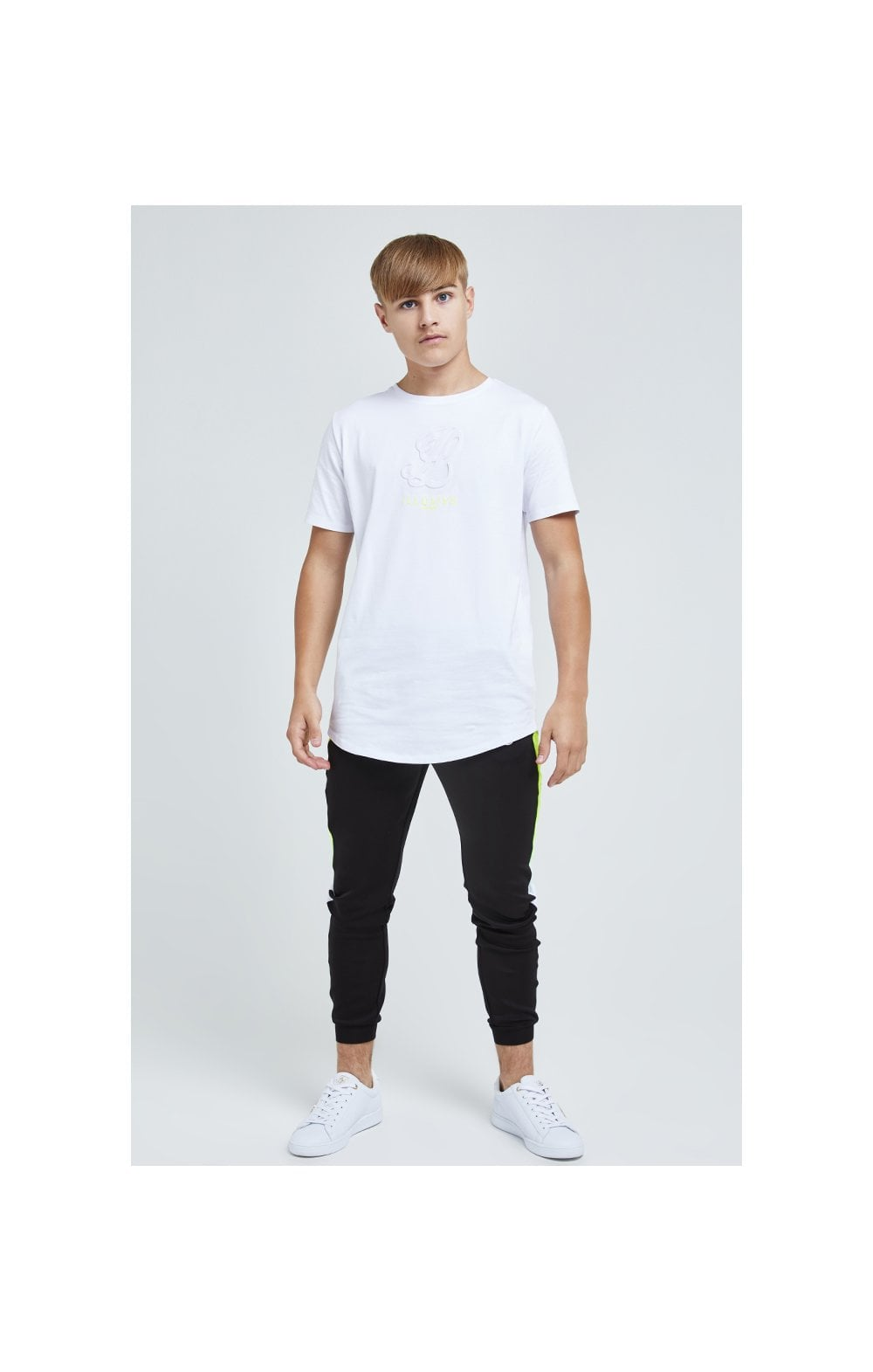 Load image into Gallery viewer, Illusive London Embossed Logo Tee - White (2)