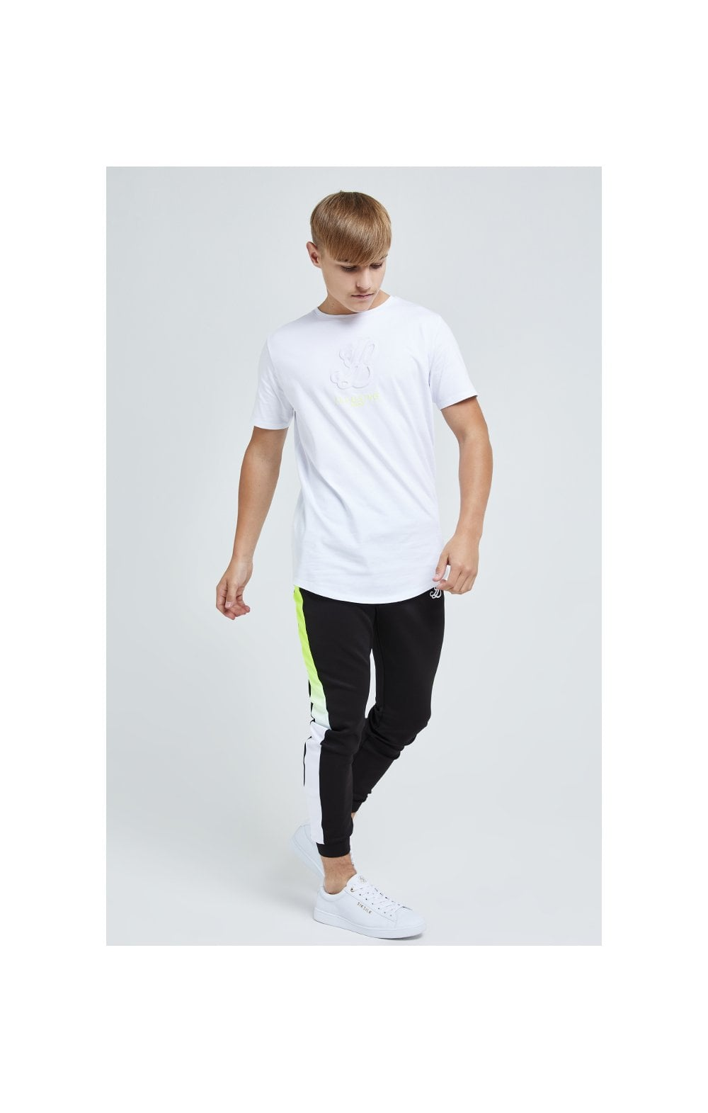 Load image into Gallery viewer, Illusive London Embossed Logo Tee - White (3)