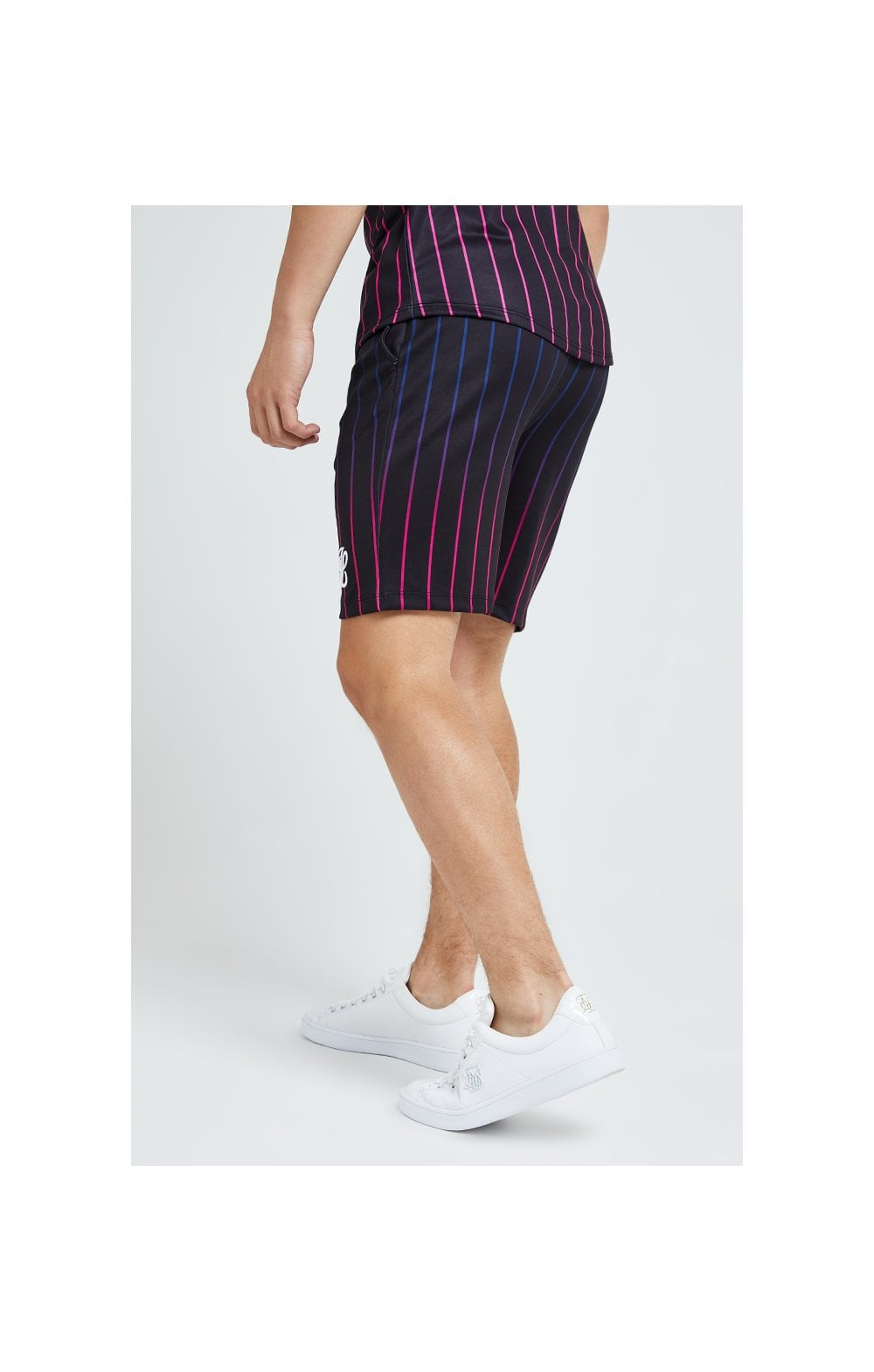 Load image into Gallery viewer, Illusive London Fade Stripe Shorts - Black (2)