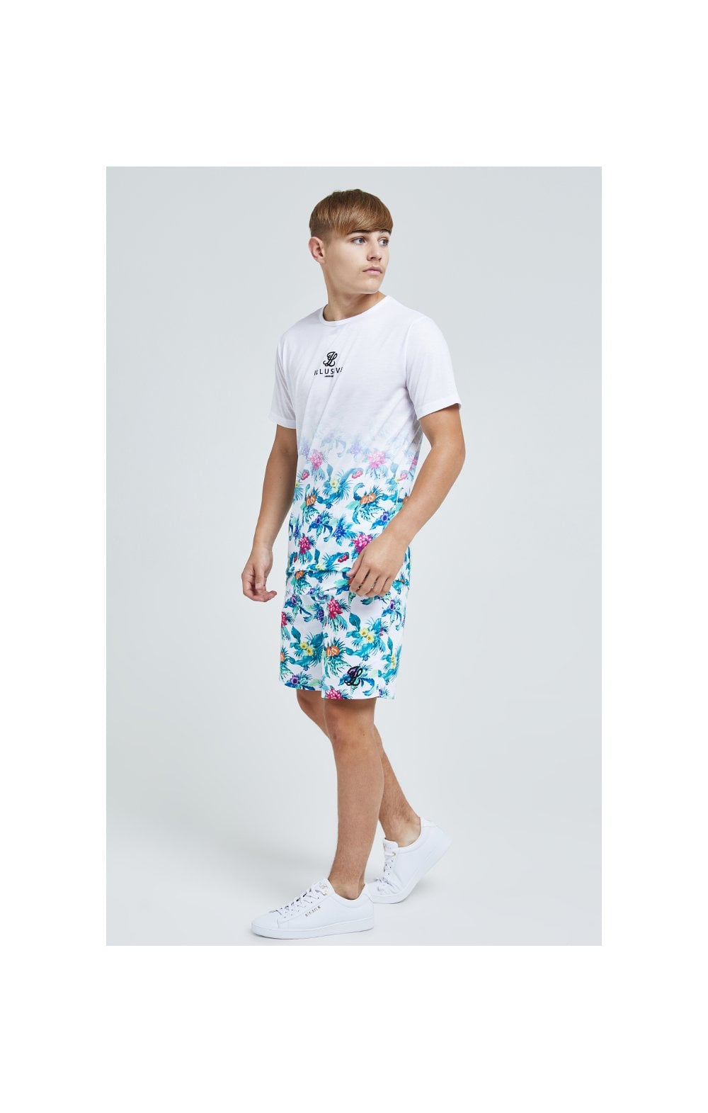 Illusive London Fade Tee – White & Floral (4)