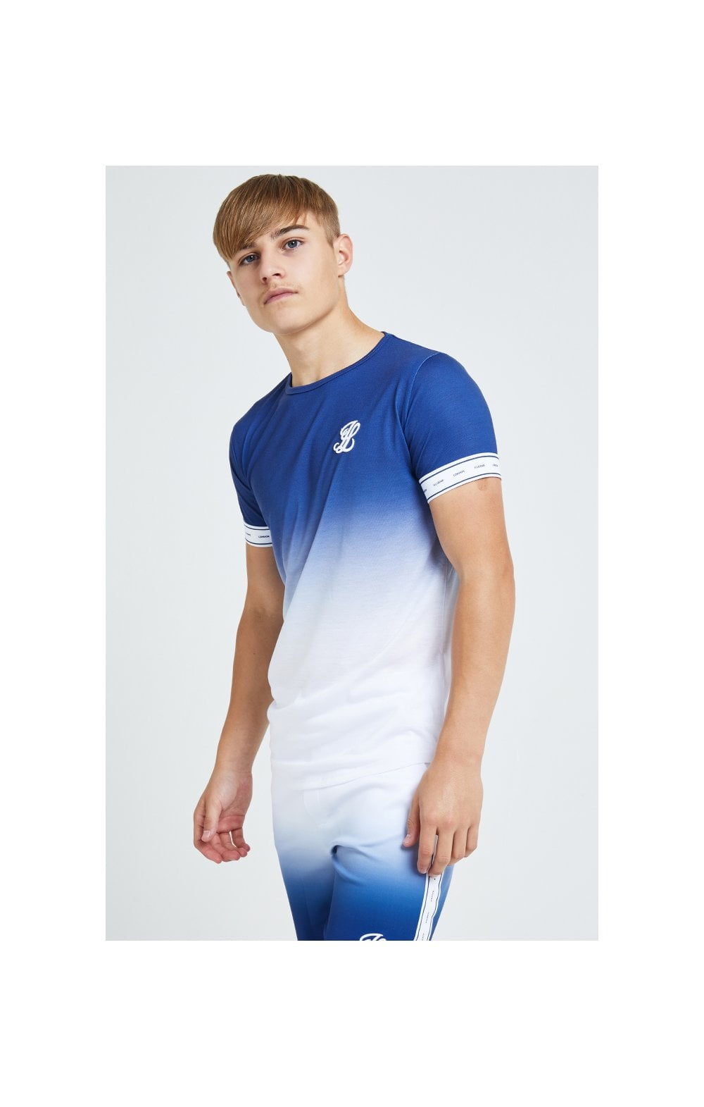 Load image into Gallery viewer, Illusive London Fade Tech Tee -Indigo & White