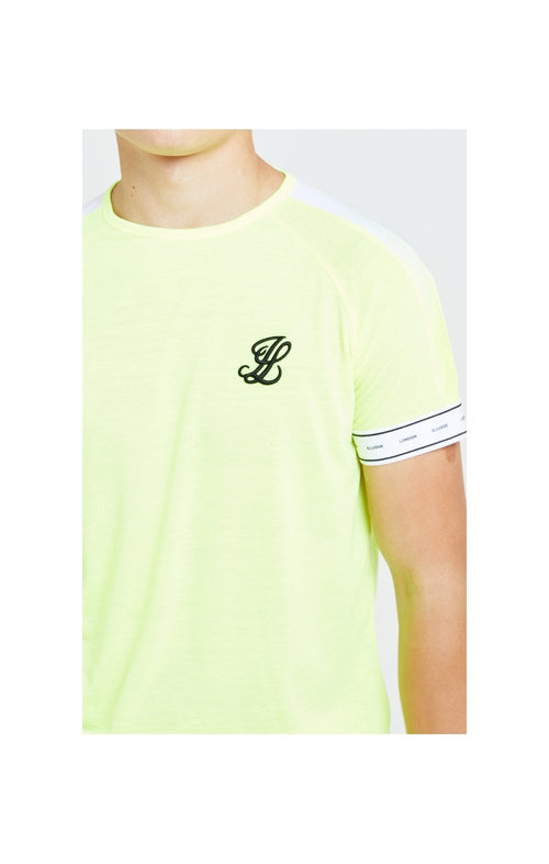 Illusive London Fade Panel Tech Tee - Neon Yellow