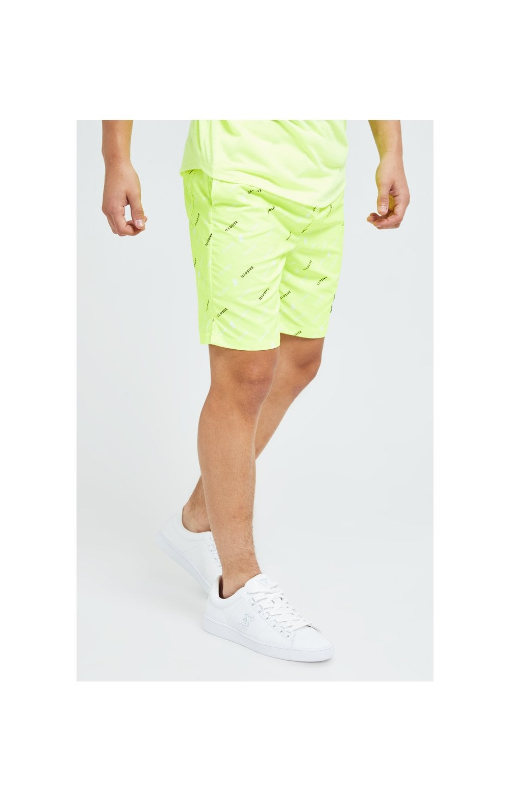 Illusive London AOP Swim Shorts - Neon Yellow (1)