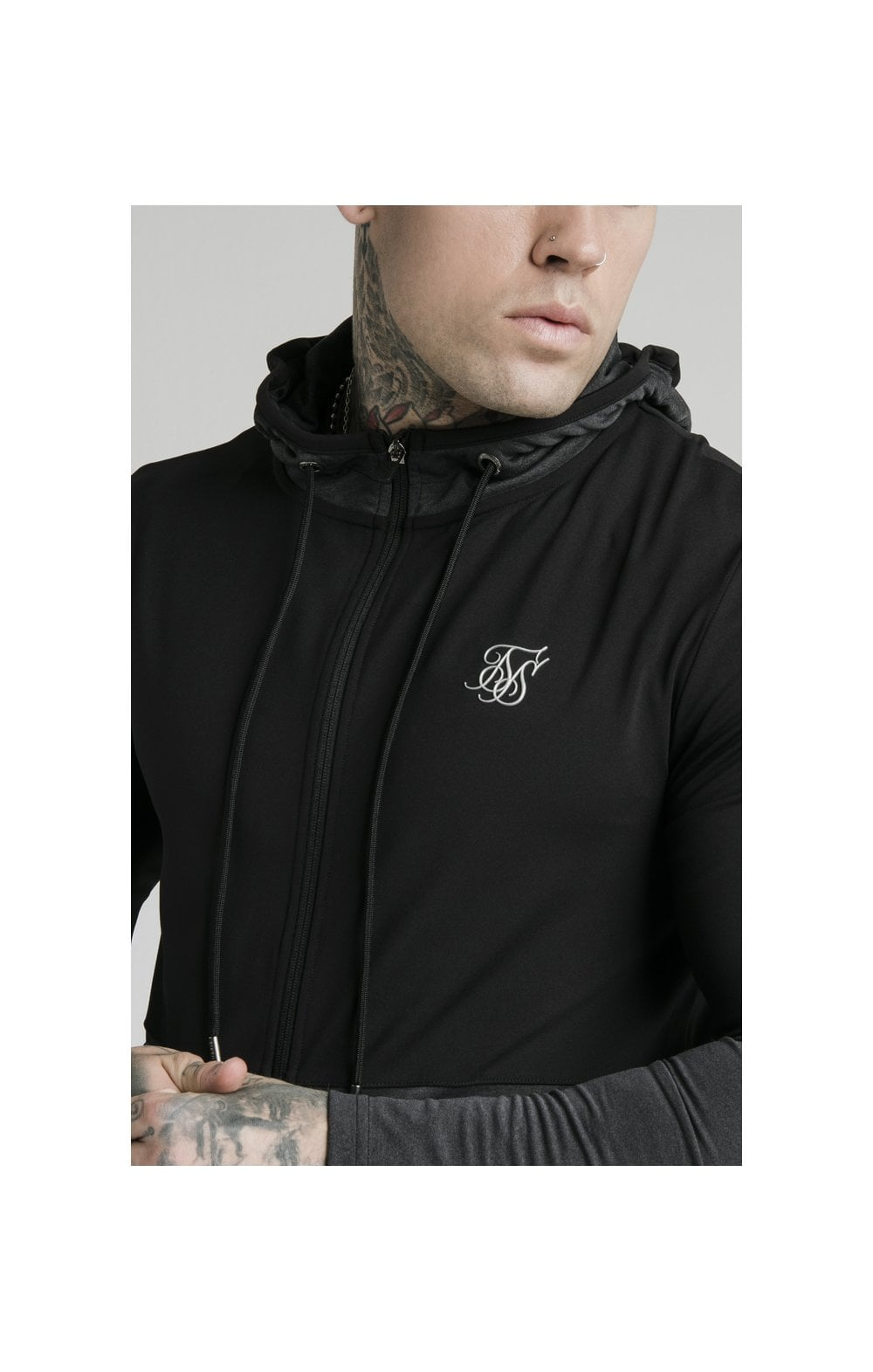 SikSilk Advanced Tech Zip Through Hoodie - Black (1)