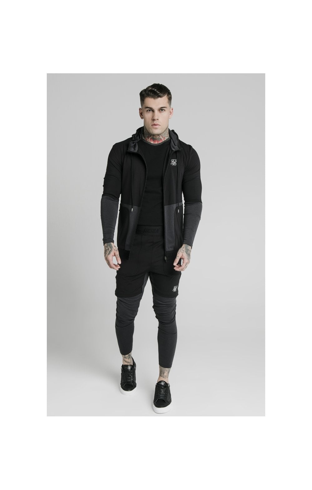 SikSilk Advanced Tech Zip Through Hoodie - Black (2)