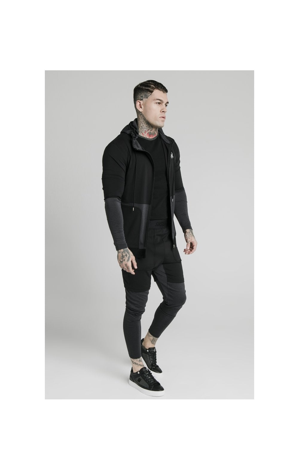 SikSilk Advanced Tech Zip Through Hoodie - Black (3)