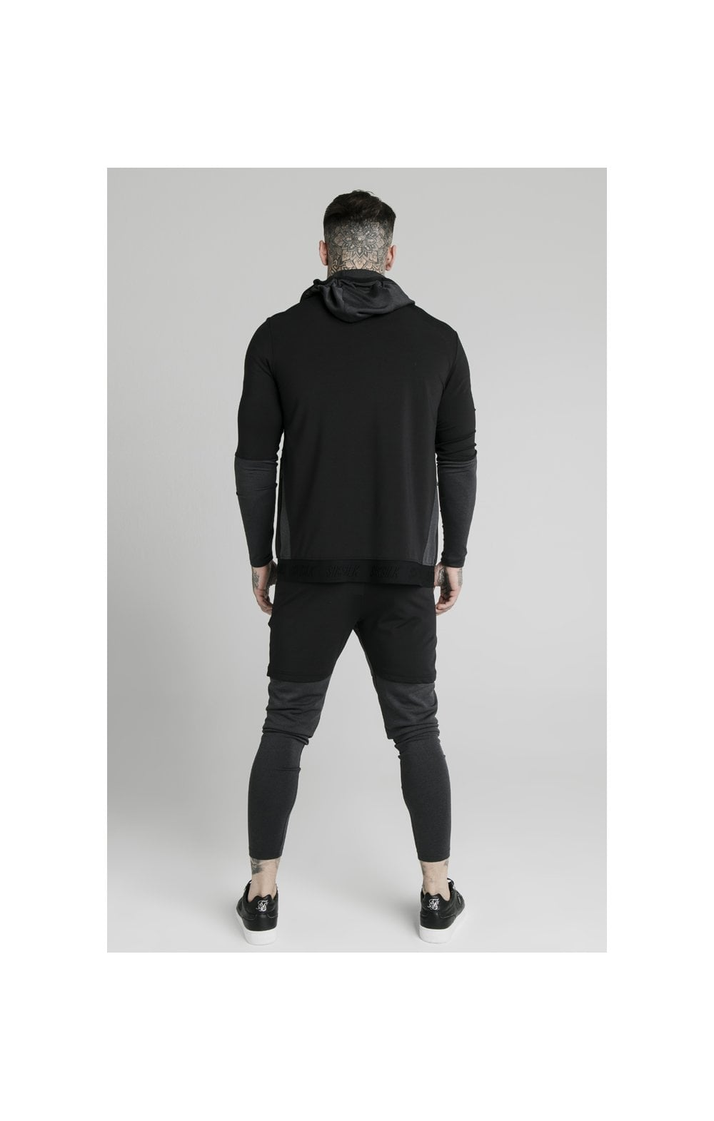 SikSilk Advanced Tech Zip Through Hoodie - Black (4)