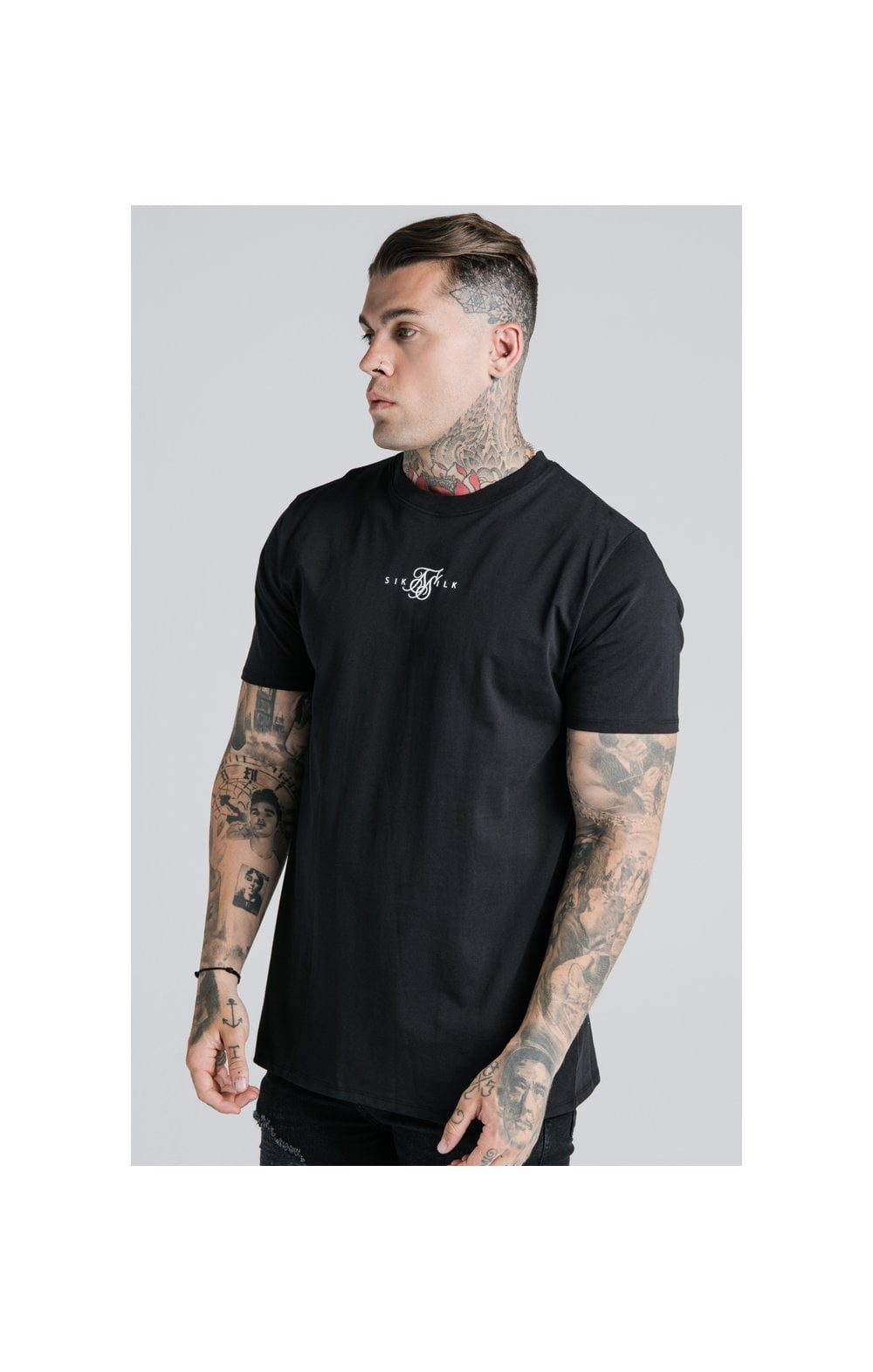 SikSilk S/S Basic Core Tee – Black