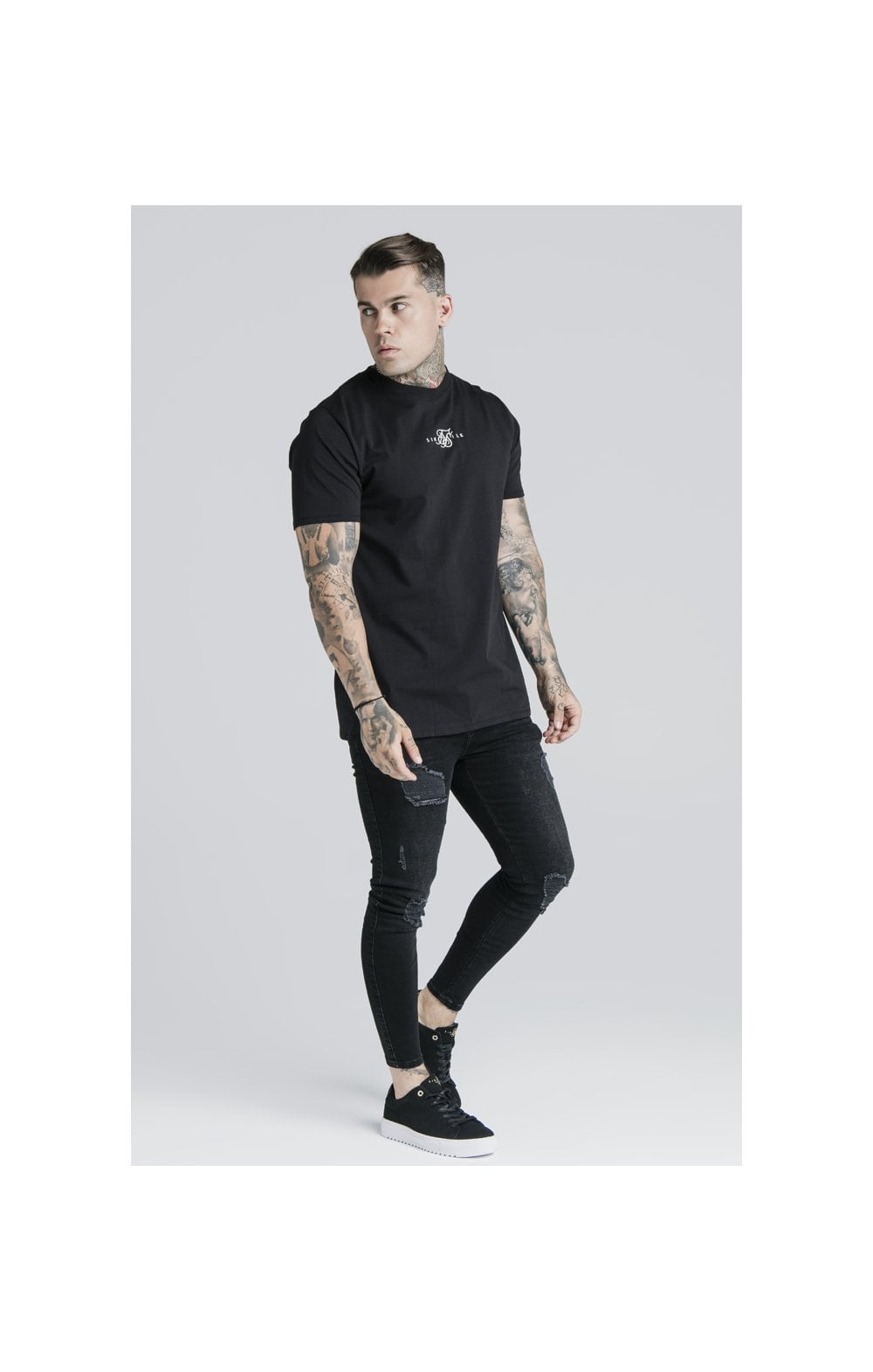 SikSilk S/S Basic Core Tee – Black (2)