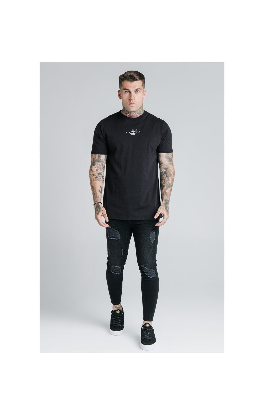 SikSilk S/S Basic Core Tee – Black (3)