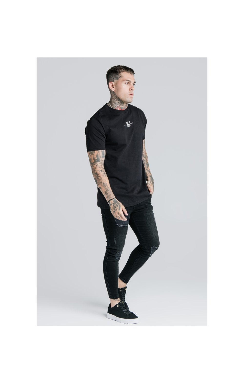 SikSilk S/S Basic Core Tee – Black (4)
