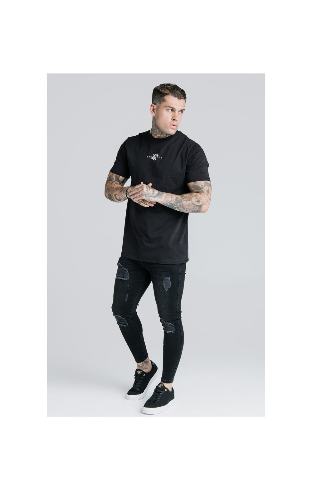 SikSilk S/S Basic Core Tee – Black (5)