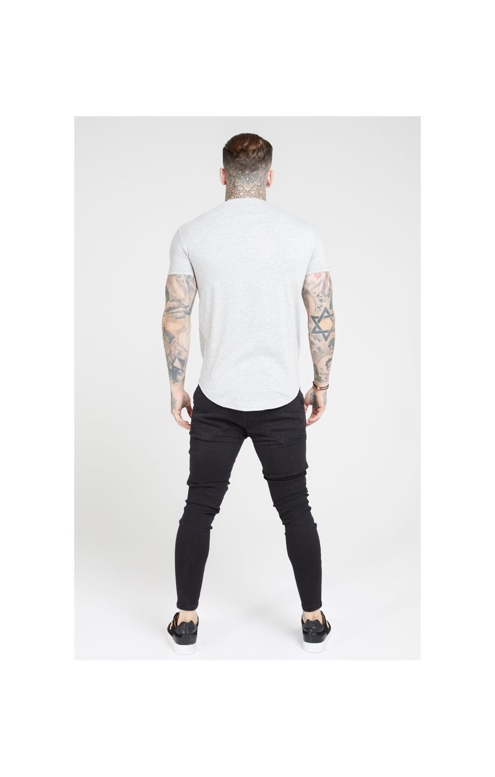 Load image into Gallery viewer, SikSilk Distressed Skinny Denims – Black (2)