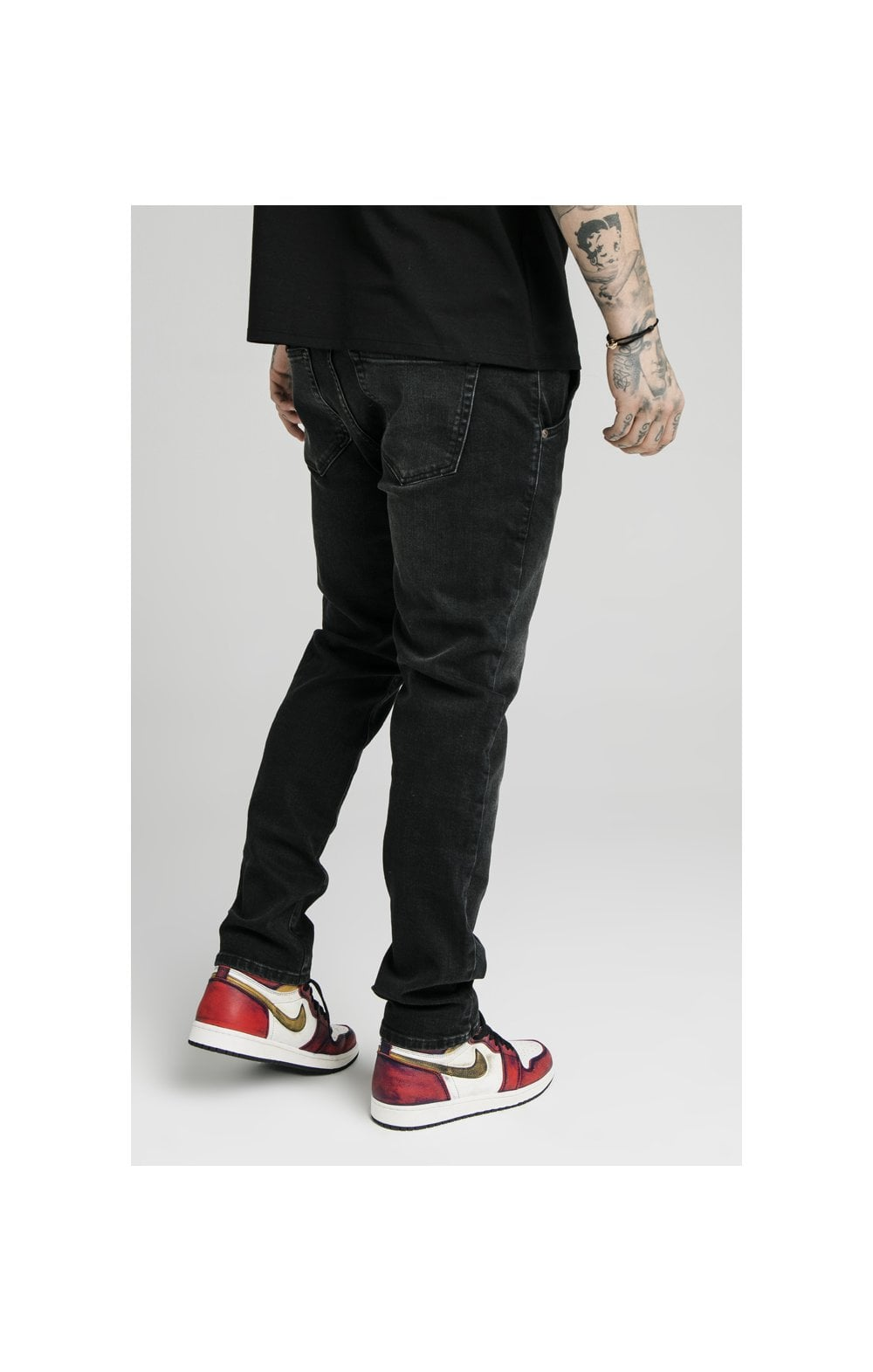 SikSilk Straight Cut Recycled Denim - Black (1)