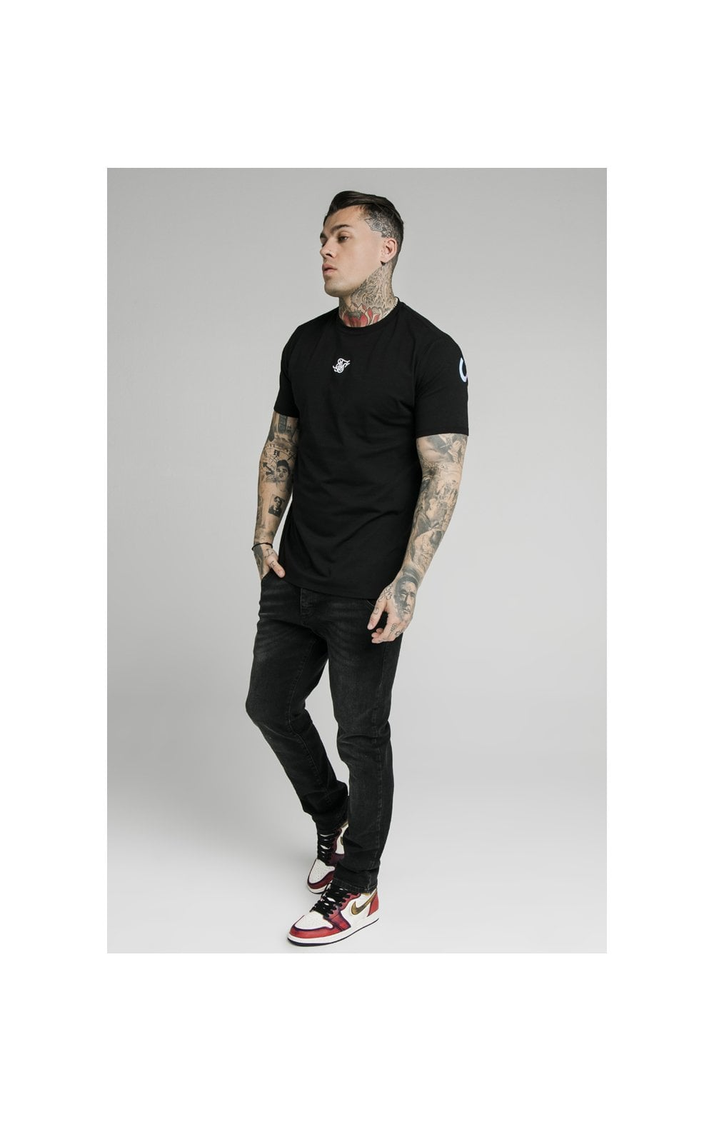SikSilk Straight Cut Recycled Denim - Black (2)