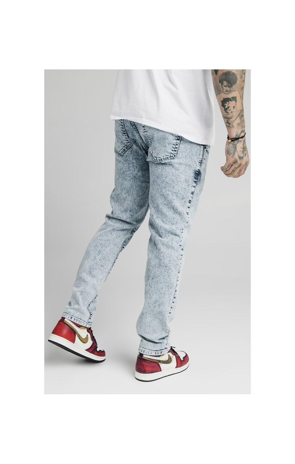 SikSilk Straight Cut Recycled Denim - Light Blue (1)