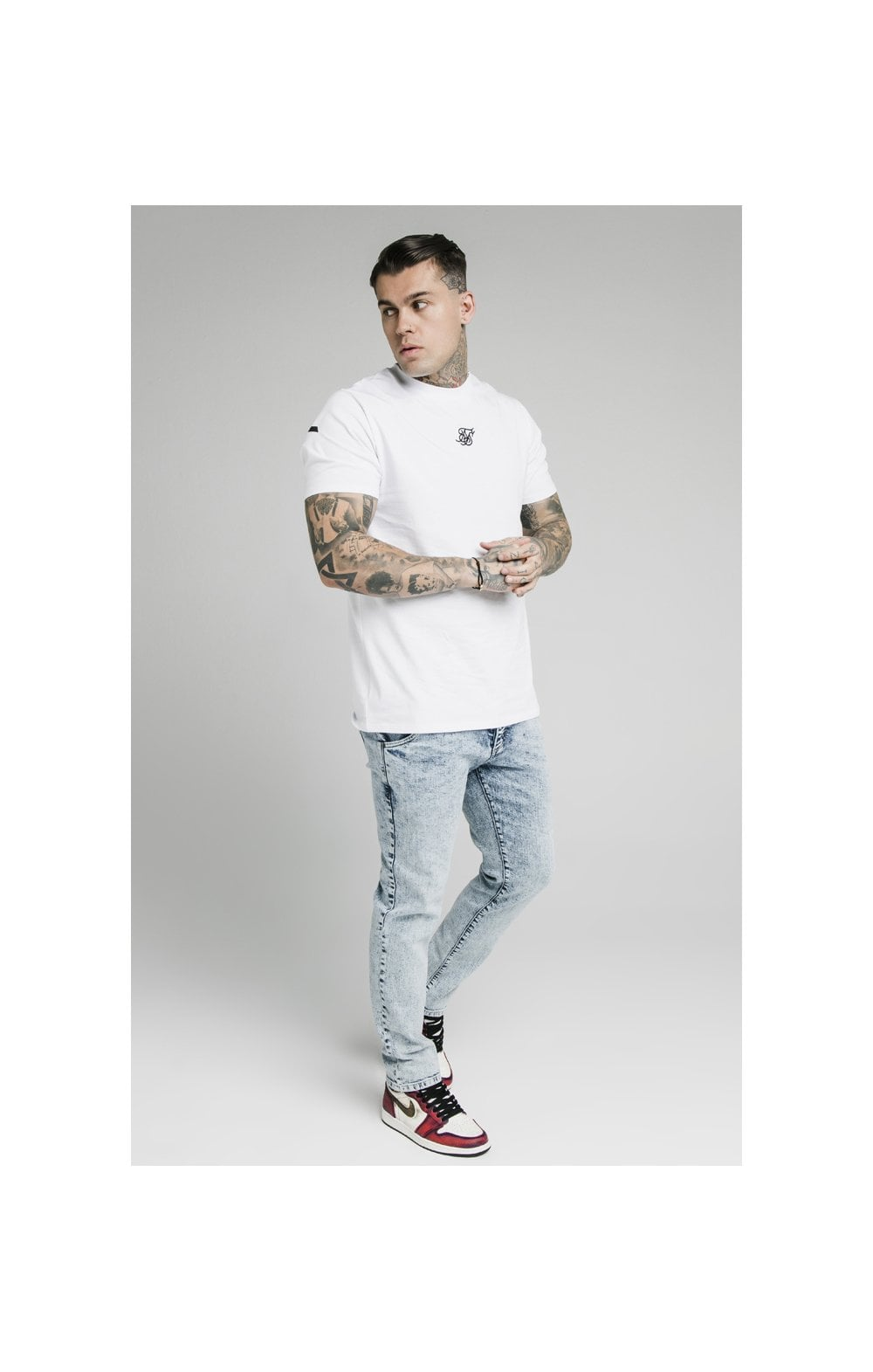 SikSilk Straight Cut Recycled Denim - Light Blue (2)