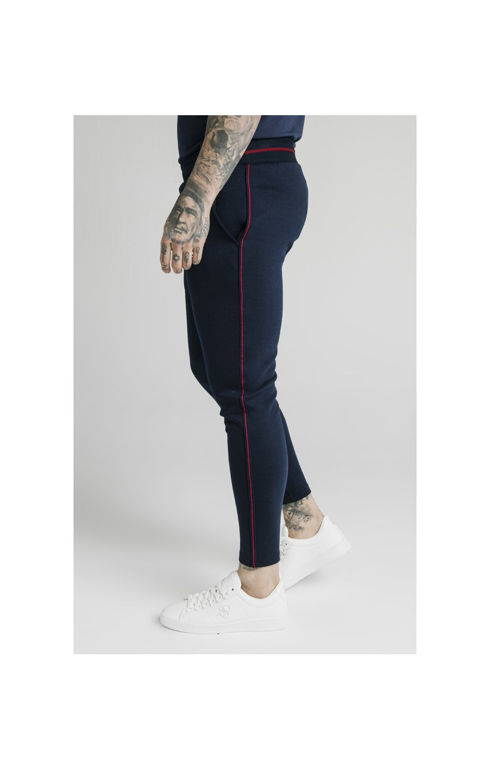 SikSilk Exposed Tape Jogger- Navy (2)
