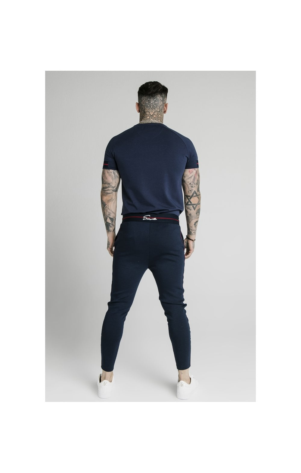 SikSilk Exposed Tape Jogger- Navy (5)