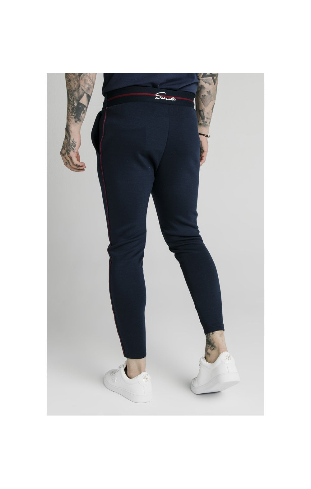 SikSilk Exposed Tape Jogger- Navy (6)