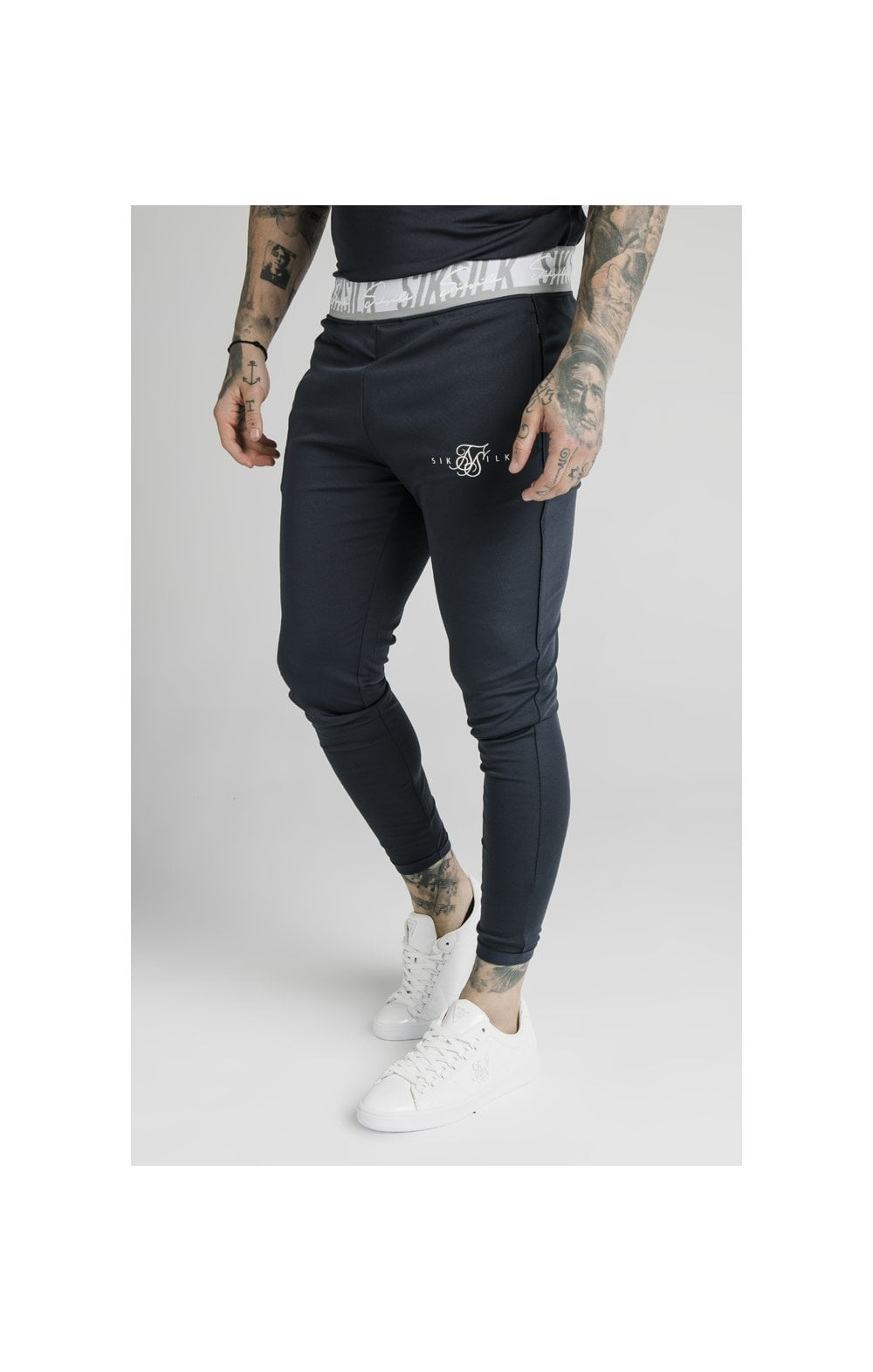 SikSilk Scope Tape Track Pant - Navy